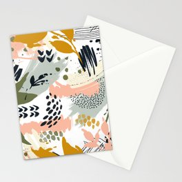 Abstract strokes still life Stationery Cards