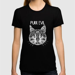Cat Purring of evil Mandala T-shirt