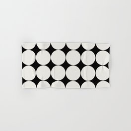 Circular Minimalism - Black & White Hand & Bath Towel