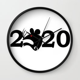 2020 Year Of The Rat Gift Design Wall Clock