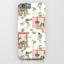 Vintage Windows Story Green iPhone Case