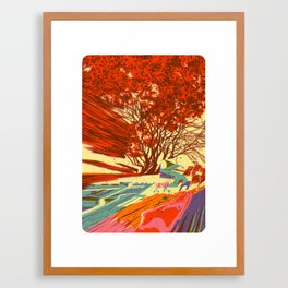 A bird never seen before - Fortuna series Framed Art Print