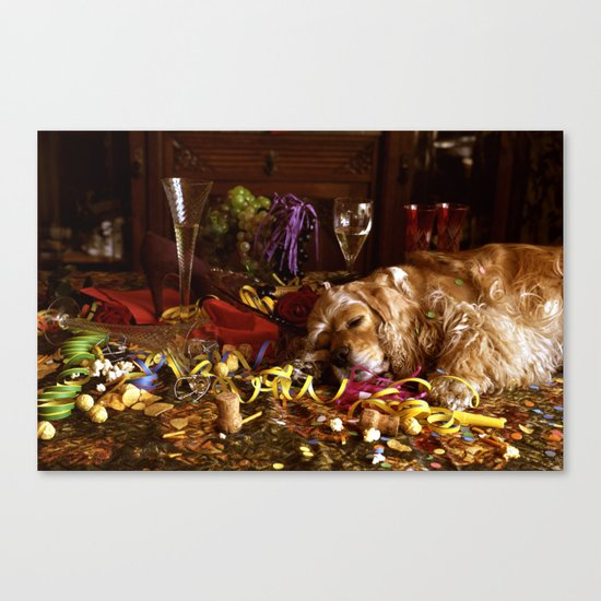 After The Party Canvas Print