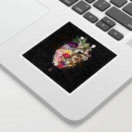 Dark Flower Heart :: Fine Art Collage Sticker