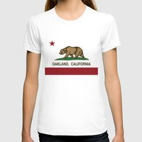 oakland T-shirts featuring Oakland California Republic Flag by NorCal