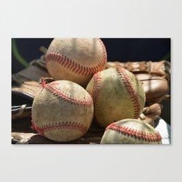 Baseballs and Glove Canvas Print