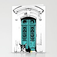 shameless Stationery Cards featuring Shameless Dog by Ninostchka Coronado