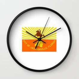 flag of Jacksonville Wall Clock