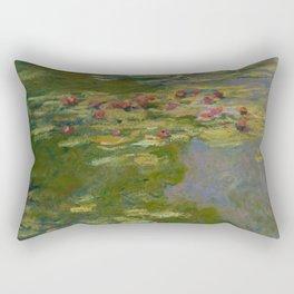 """Claude Monet """"Water Lilies"""" (15a) Rectangular Pillow"""