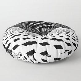 Black & White Fractal Art Print / Home Decor Floor Pillow