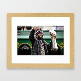 Ed Reed   Ravens Superbowl Parade Framed Art Print