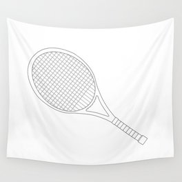 Tennis Racket Outline Wall Tapestry