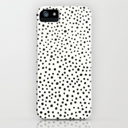 Black Dots Abstract 1 iPhone Case