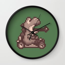 Pixelated Super Mario Kart - Yoshi Wall Clock