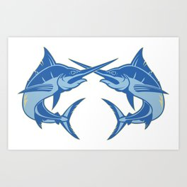 Sailfish is one of the most hardest fishes to catch Art Print