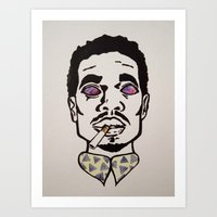 chance the rapper Art Prints featuring Chance the Rapper by Sara Wong