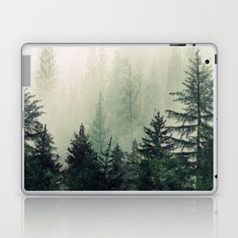 Foggy Pine Trees Laptop & iPad Skin