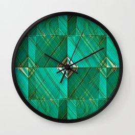 Patrick's Pleated Plaid Wall Clock