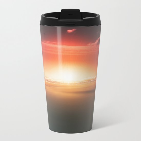 When the day breaks Metal Travel Mug