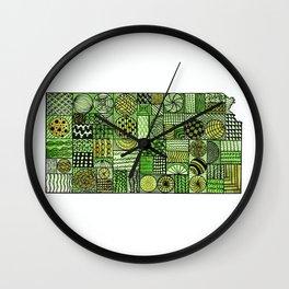 Kansas Fields Wall Clock