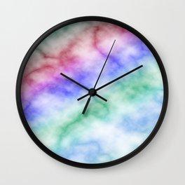 Rainbow marble texture 6 Wall Clock