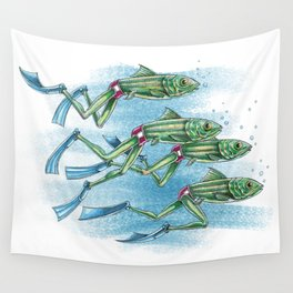 SYNCHRONIZED SWIMMING Wall Tapestry