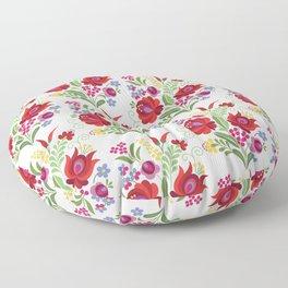 Hungarian Folk Design Red Peppers Floor Pillow
