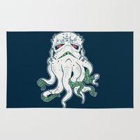 lovecraft Area & Throw Rugs featuring Stormthulhu by Hillary White