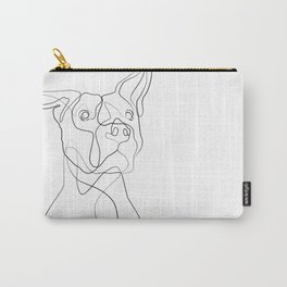 Pitbull Dog Line Art Carry-All Pouch