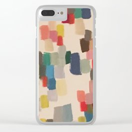 Colorful happy cheerful abstract painting Clear iPhone Case