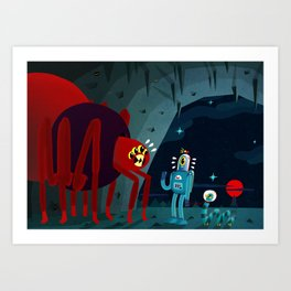 Space Spider Gets Surprise Visitors Art Print