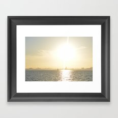 Let's Sail From this City Framed Art Print