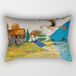 Night comes earlier Rectangular Pillow
