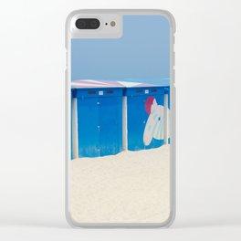 Beach cabins Clear iPhone Case