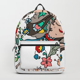 HAPPINESS IS POWERFUL LOTUS GIRL Backpack
