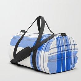 satins sapphire plaid Duffle Bag