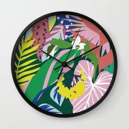 Lush Jungle Wall Clock