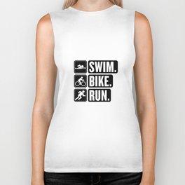 Swim Bike Run Block 2 Biker Tank
