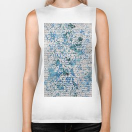 Blue and Emerald Splatter Biker Tank