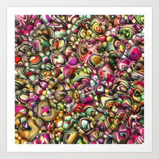 Colorful Abstract 3D Shapes Art Print