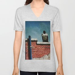 African American Masterpiece 'Freedom' by Hughie Smith Unisex V-Neck
