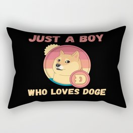 Just A Boy Who Loves Doge Rectangular Pillow