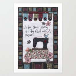 A Day Spent Sewing Art Print