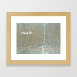 Riesling rules Framed Art Print