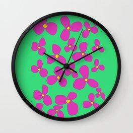Three-leaf flower pattern lily Wall Clock