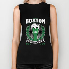 Boston Drinking Team Green Beer Cool St Patricks Day Biker Tank