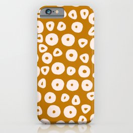 Abstract Jaguar Circles Pattern iPhone Case