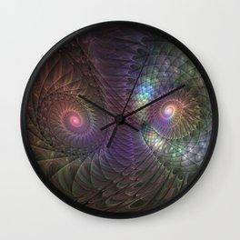 Fantasy Spirals Fractals Art Wall Clock