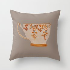 Teacup Throw Pillow