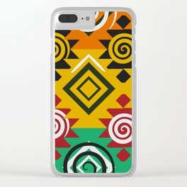 Geometric festival Clear iPhone Case